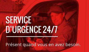Service d'urgence par notre équipe